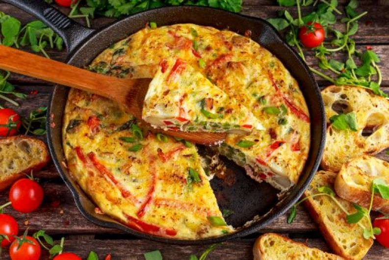 Air-Fried Chicken Sausage Frittata