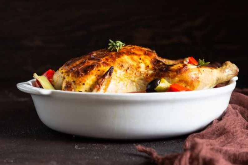 Roasted Whole Chicken with Veggies