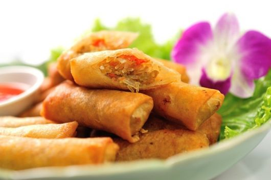 Air-Fried Vegetarian Spring Rolls