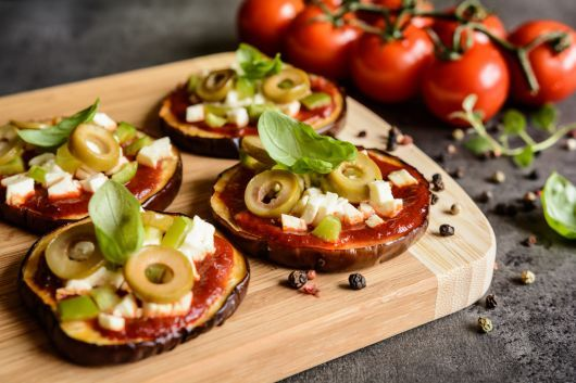 Air Fryer Eggplant Parmesan Mini Pizzas