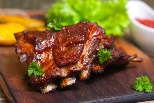 Air Fryer Lamb Ribs with Madeira Sauce