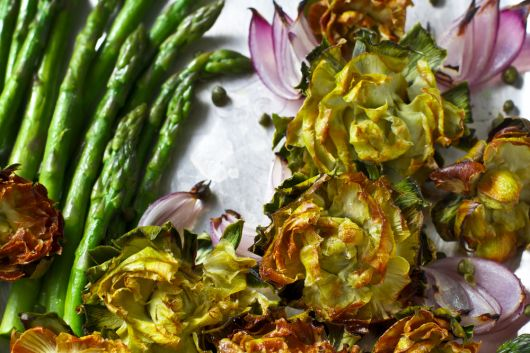 Air Fryer Roasted Artichokes