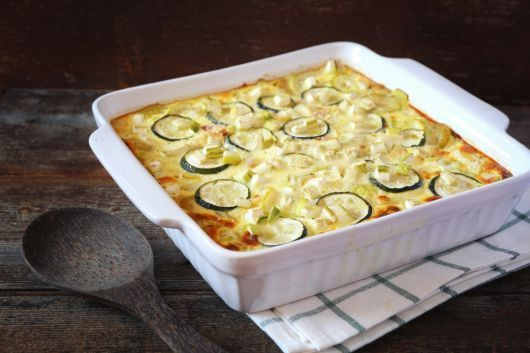 Air Fryer Zucchini Gratin