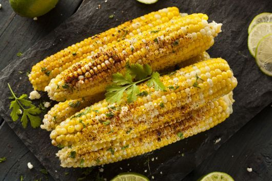 Air-Fried Corn on The Cob with Cilantro