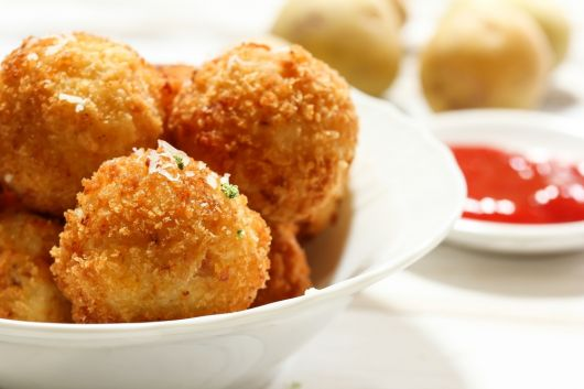 Air-Fried Mozzarella Balls