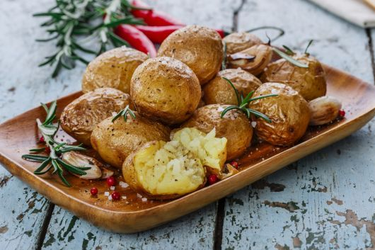 Air-Fried Potatoes with Garlic and Rosemary