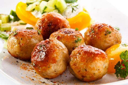 Air-Fried Spicy Chicken Meatballs