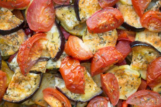 Baked Eggplant and Cherry Tomato with Herb