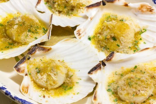 Baked Scallops with Herbs and Parmesan