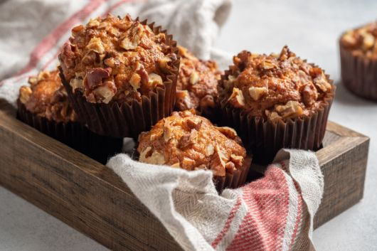 Banana Muffins with Pecans