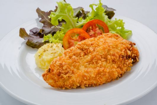 Breaded Chicken Breast with Macadamia
