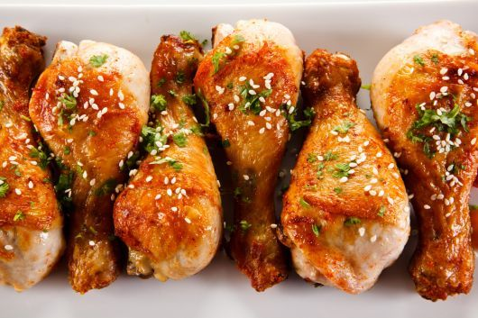 Chicken Drumstick with Cilantro and Sesame