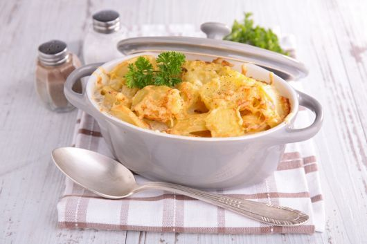 Creamy Potato and Mozzarella Bake