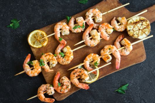 Garlic-Pepper Shrimp Skewers
