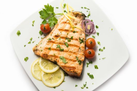 Grilled Halibut Steaks with Herbs