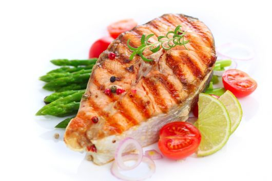 Grilled Salmon with Lime and Rosemary
