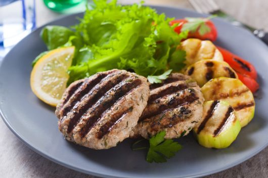 Grilled Turkey Burger Patties with Dill