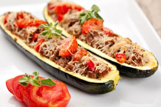 Minced Beef in Zucchini Boats