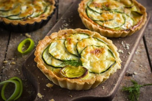 Mini Zucchini and Feta Quiche