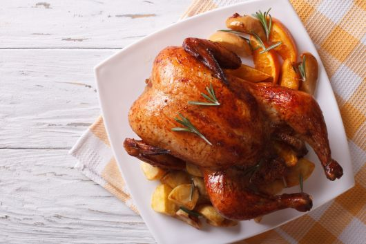Orange-Glazed Roasted Chicken