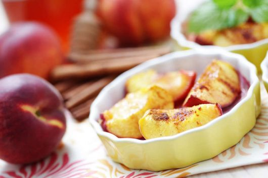 Peach with Cinnamon Dessert