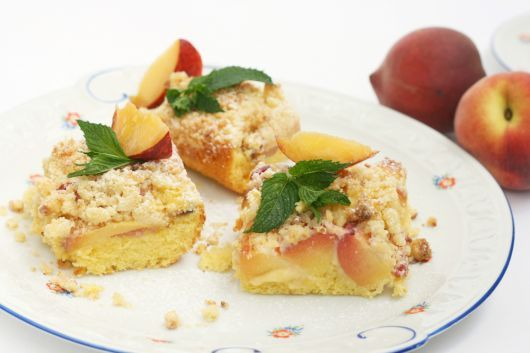 Pear and Peach Dump Cake