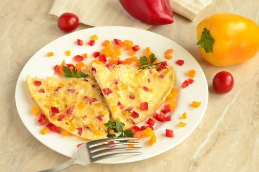 Pepper and Tomato Frittata with Parmesan