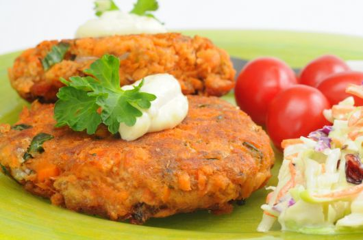 Salmon Carrot and Zucchini Patties