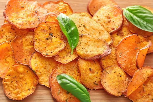 Spiced Air Fryer Sweet Potato Chips