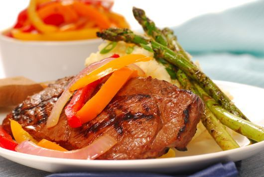 Spiced Grilled Steak and Vegetables