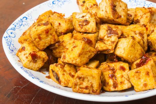 Spicy Air-Fried Tofu Bites