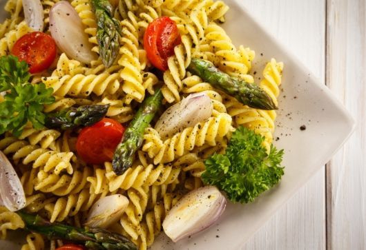 Spiral Pasta with Roasted Vegetables