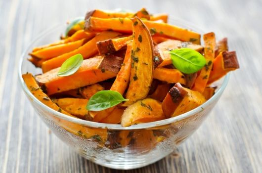 Sweet Potato Fries with Basil