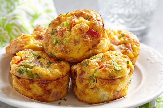 Turkey Ham and Veggie Muffins